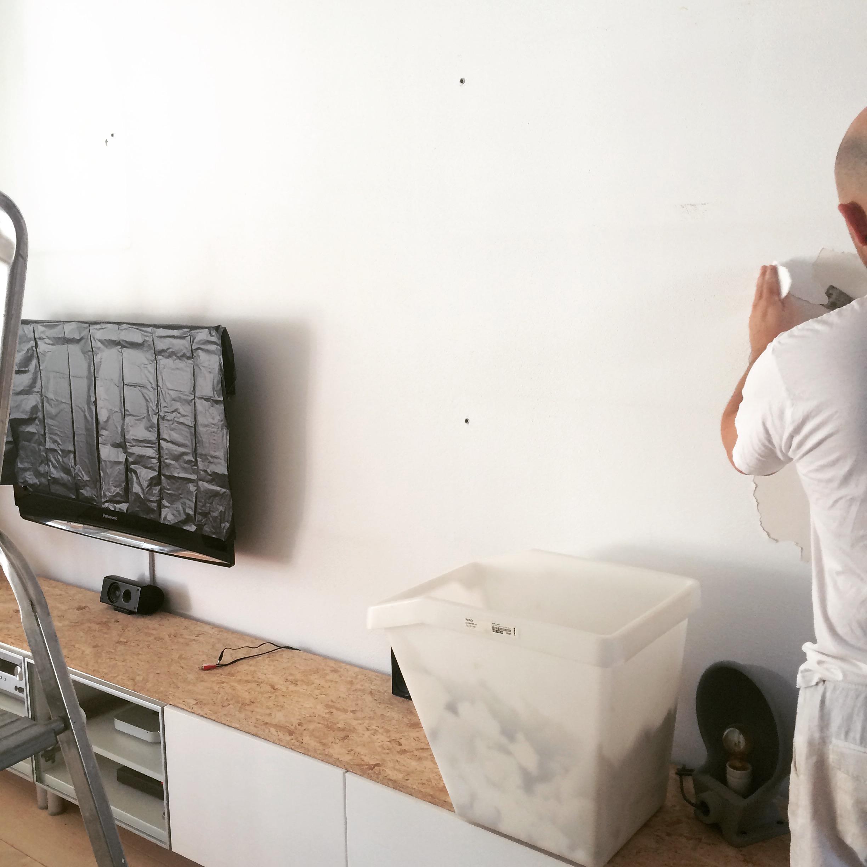 muren geverfd met kalkverf van annie sloan barbaramama